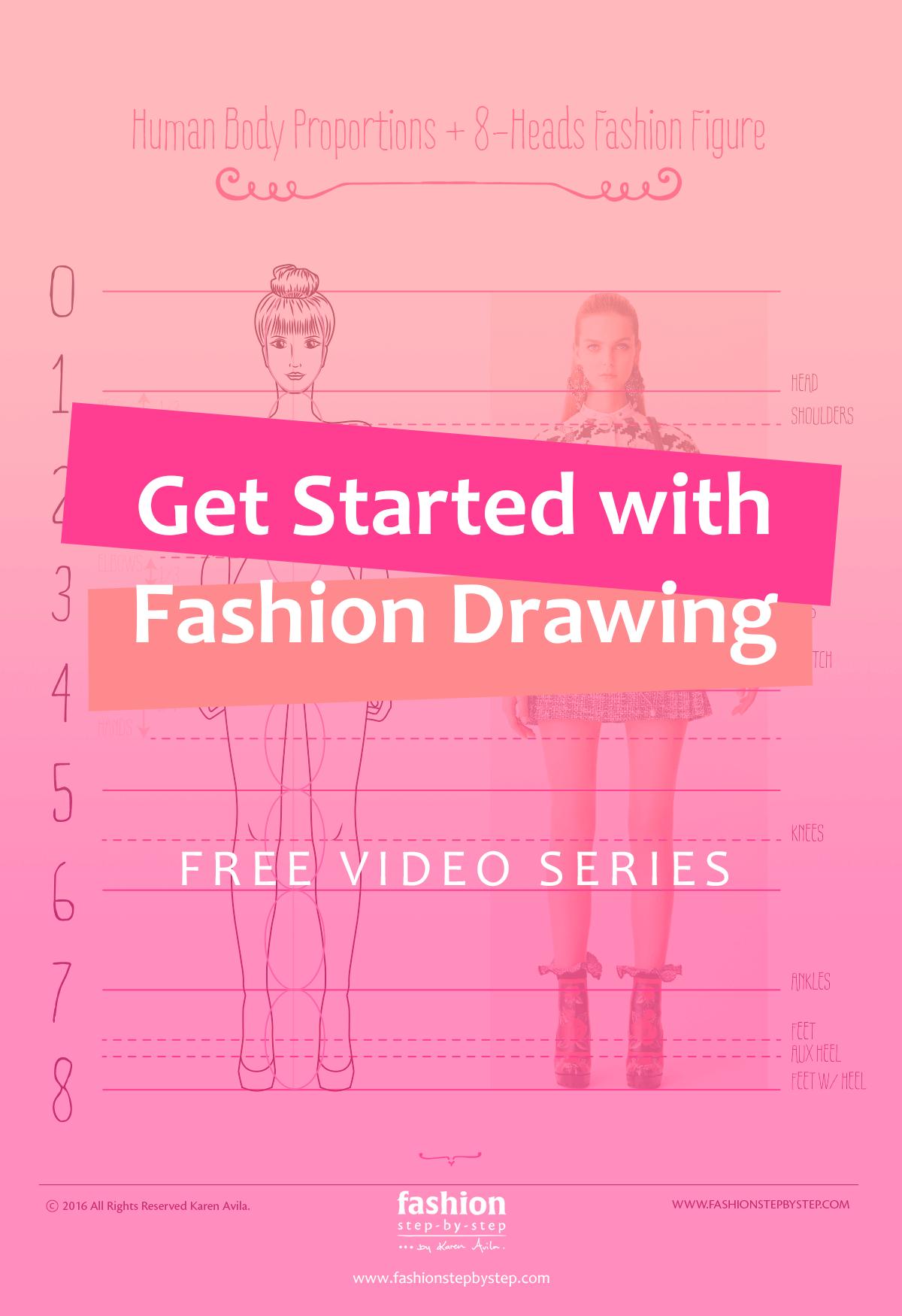 how to draw fashion figures fashion stepbystep